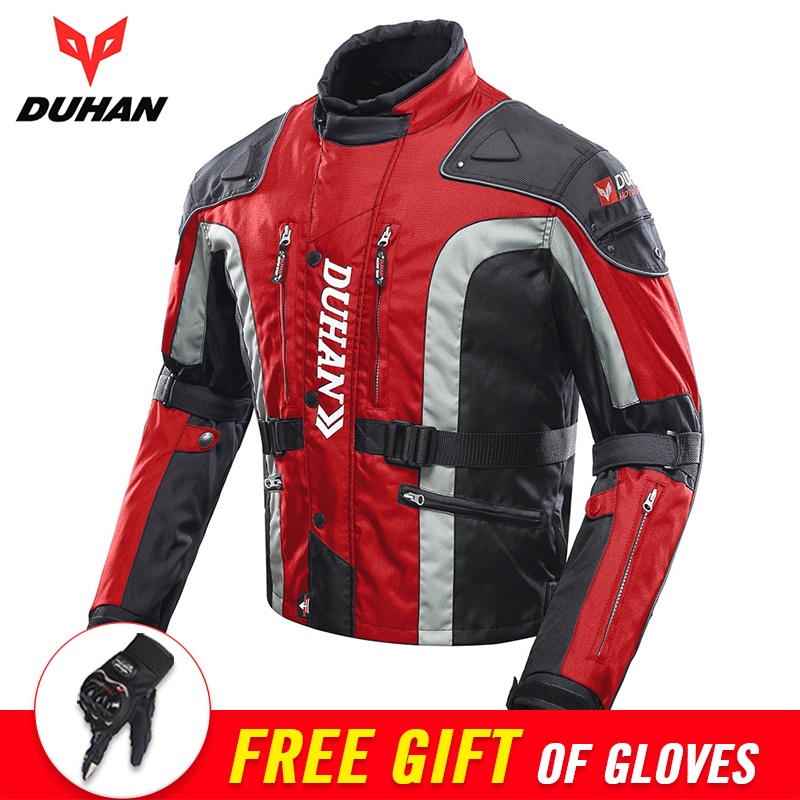 DUHAN Autumn Winter Motorcycle Jacket Men Motocross Equipment Cotton Lined Cold-proof Motorbike Moto Jacket Protective Gear duhan motorcycle jacket motocross jacket moto men windproof cold proof clothing motorbike protective gear for winter autumn