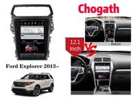 Chogath car multimedia player android 7.0 car gps navigation 12.1inch car radio player for Ford Explorer 2013 2019