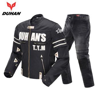 93ebb5800fe Chaqueta de motocicleta DUHAN chaqueta de Moto transpirable ropa de  Motocross para hombre traje de motocicleta