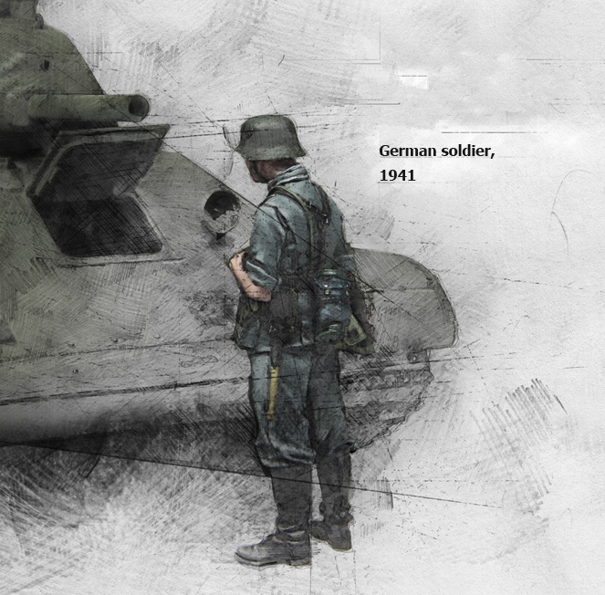 1:35 Scale German Infantryman WW2 Soldiers Figure E142 Resin Model Kit Unpainted