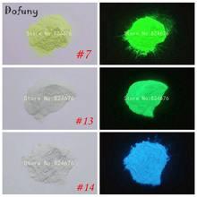 Pó luminoso brilhante, verde e azul 10 g/saco, pigmento de fósforo, pó noctilucente que brilha no escuro, pigmento em pó, glitter nas unhas