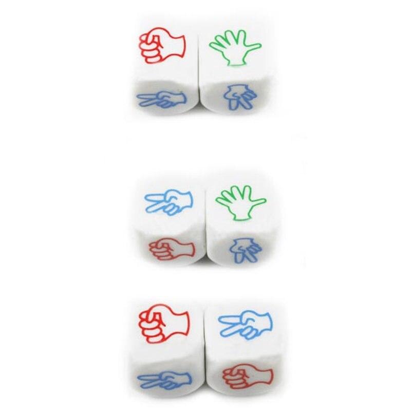 2 шт. палец-угадайку Игральная кость рок-Бумага-Ножницы Развлечения Настольная игра