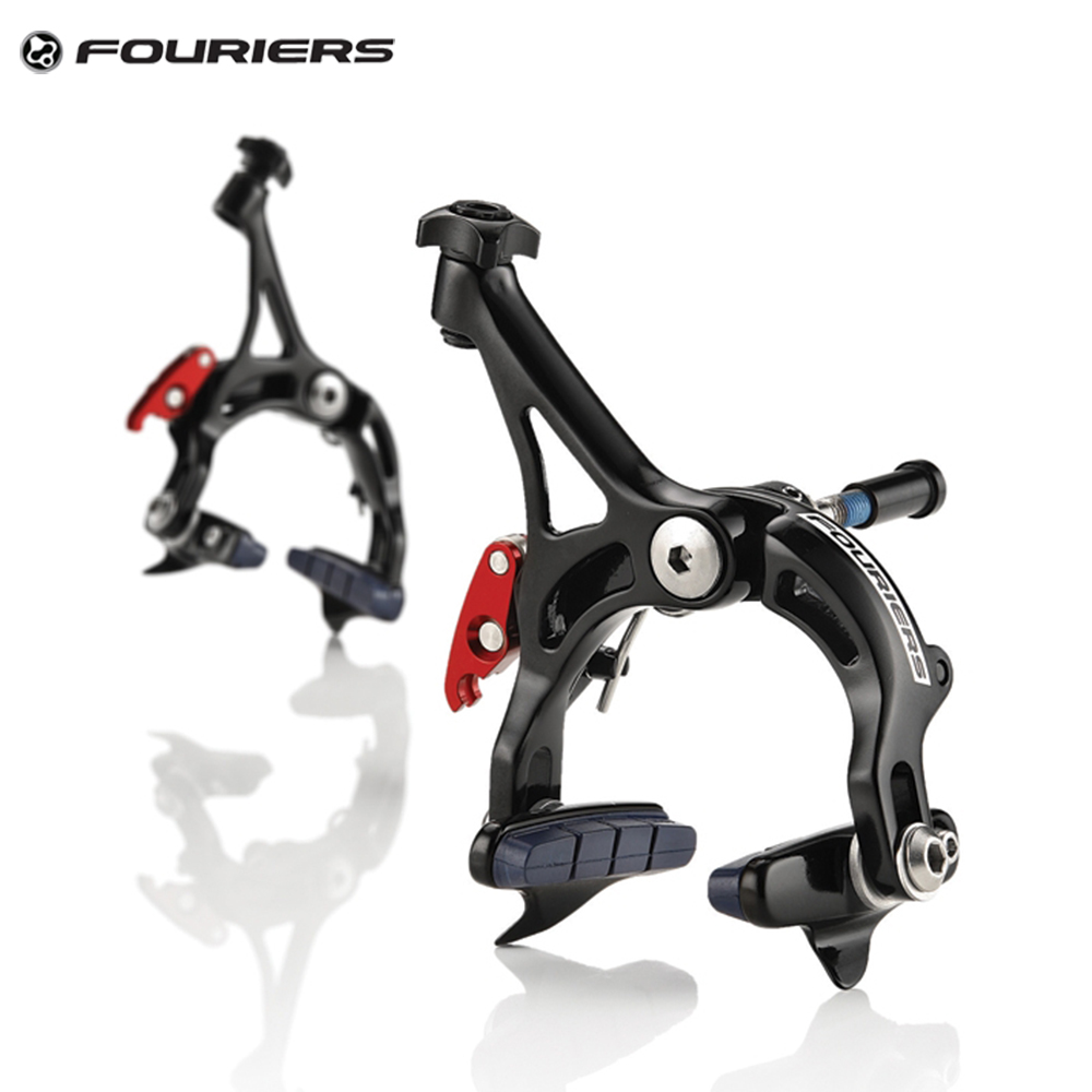 цена на Fouriers Front + Rear Road Bike Caliper Brake Time Trial Triathlon Aluminium C Brake for Alloy rims Bicycles Brakes Set