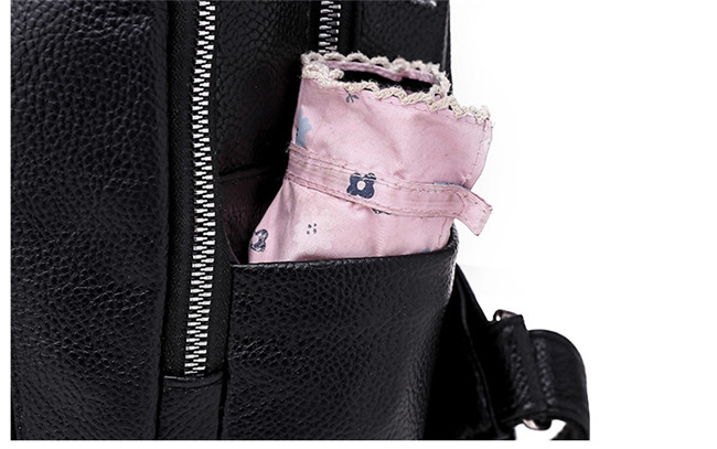 Minimalism Female Backpack Pu Leather Youth Women Bagpack Beautiful Fashion Girl Casual Rucksacks Lady Shoulder Bag 2019 New