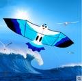O envio gratuito de alta qualidade 2.2 m gaivotas kite10pcs/lot criança pipa pipa nylon ripstop pipa com linha punho barato ao ar livre totys
