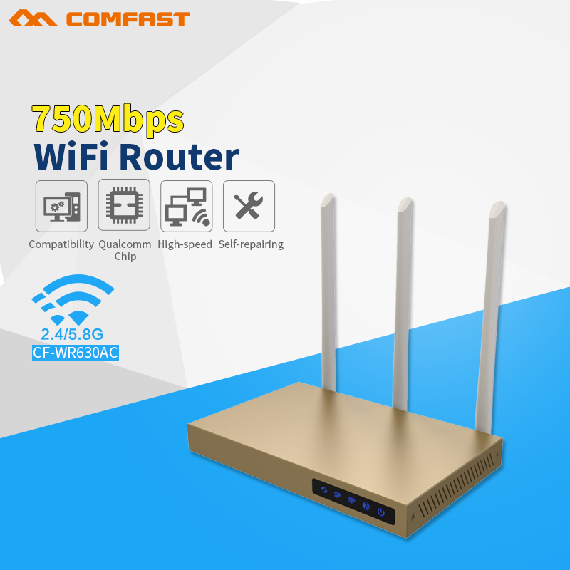 COMFAST 750Mbps Dual Band wireless 802.11ac wifi router repeator wi fi with 3*6dBi antenna build-in 3PA high power wifi router new tp link wdr7400 1750mbps 11ac 6 antenna fast wifi extender wireless dual band router for home computer networking