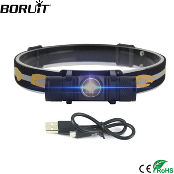 Boruit d10 led 전조등 높은 전력 XM-L2 헤드 라이트 18650 recharheable 헤드 토치 방수 캠핑 낚시 손전등