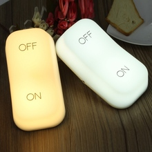 ON/OFF Key Switch Two Tranche Adjustable Dual Mode Gravity Sensor Night Light Lamp Power Supply Atmosphere Bedside Light Bedroom