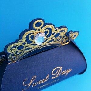 Image 4 - Kırmızı düğün Favor kutuları 100 adet düğün şeker kutusu taklidi kağıt hediye kutusu noel çikolata kutusu bebek duş doğum günü partisi