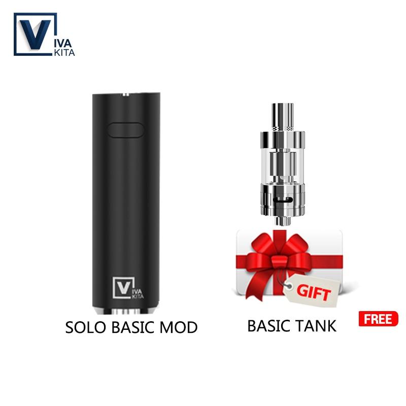 1100mah cigarette électronique Vape stylo SOLO Kit de base 25W vaporisateur stylo 2.0ml atomiseur kit 0.5ohm évaporateur bobine fit 510 fil