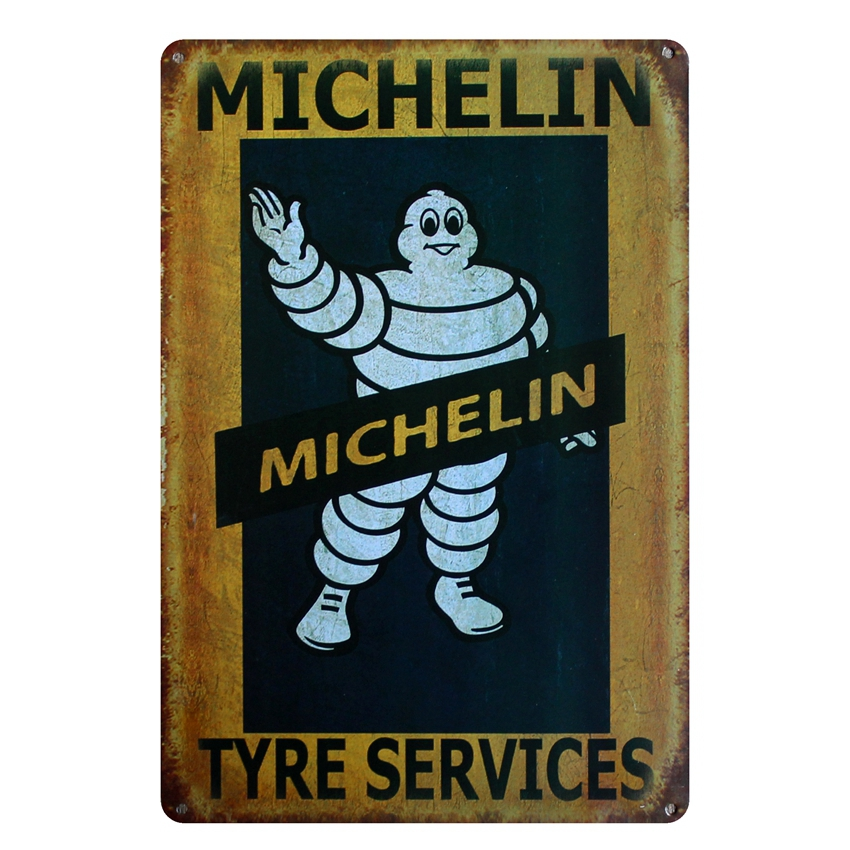 [ Kelly66 ] TYRE SERVICES Retro Metal Sign Wall Bar Cafe Home Decor 20*30 CM size D-20