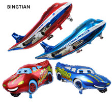 BINGTIAN delivery super large air passenger plane car shape aluminum BALLOON Birthday Party Decoration balloon toy wholesale(China)