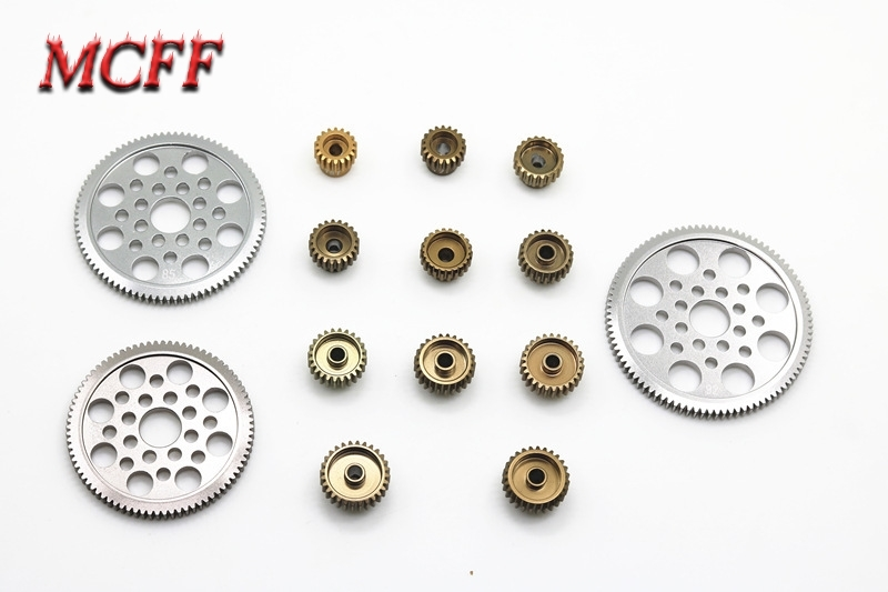 Motor Alloy Pinion Cogs Gear 18T 19T 20T 21T 22T 23T 24T 25T 26T 27T 28T 80T 85T 90T for 3RACING 3R Sakura CS S XIS D4 RC Car-in Parts & Accessories from Toys & Hobbies