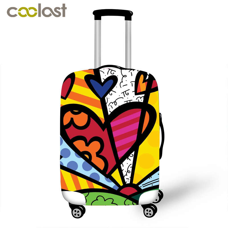 Creative Printing Elastic Luggage Protective Covers for 18 28 Inch Travel Baggage Zipper Cases Cover 3D