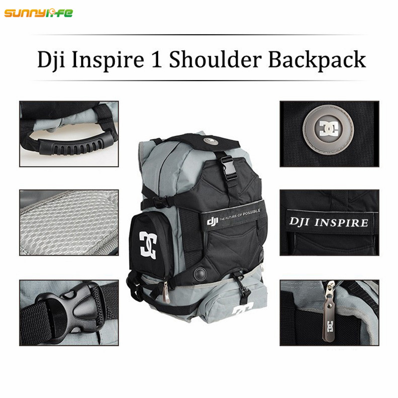 Sunnylife DJI Inspire 1 Portable Shoulder Backpack Case Travel Bag Carry Backpack Storage Waterproof Bag for DJI Inspire 1 Drone крючок am pm inspire двойной a5035664