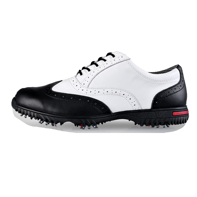 Brand PGM Genuine Leather Mens Tour 360 Out-Dry Waterproof Spiked Golf Sports Shoes Pro Tour Steady Spikes Sneakers XZ042/39 pgm golf clothing bag waterproof genuine leather top quality golf shoes bag high capacity double layer sports bag handbag