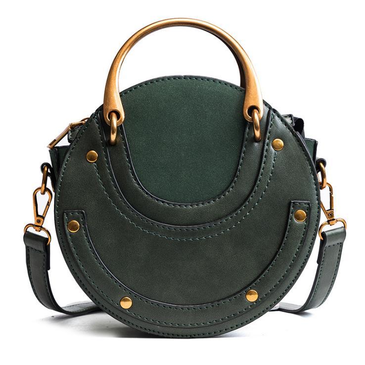 Heißer Mode Umhängetaschen für Frauen 2019 Schulter Tasche Handtasche PU Leder Frauen Messenger Taschen Geldbörse Quasten Kleine Runde Tasche