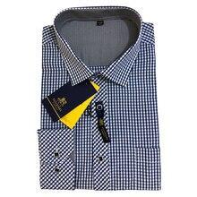 Мужская клетчатая рубашка с длинным рукавом, мужская клетчатая рубашка, весна-осень, модные повседневные рубашки, одежда для дома, офиса, брендовая, высокое качество
