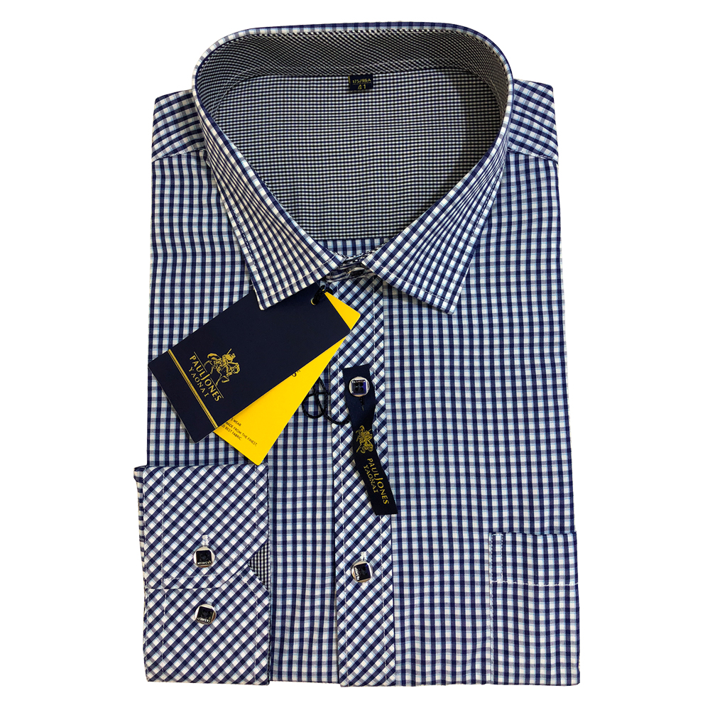 Men Plaid Shirt Long Sleeve Men's Plaid Dress Shirt Spring Autumn Fashion Casual Shirts Home Office Clothes Brand High Quality