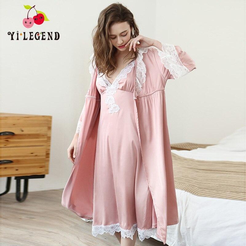 Nouvelle Robe en soie deux pièces Robe à bretelles peignoir femmes Robes en soie Robe en Satin dames Robes de chambre deux pièces pyjamas en soie