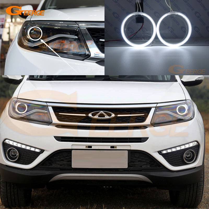 For chery tiggo 5 2016 2017 Excellent Angel Eyes Ultra bright illumination CCFL Angel Eyes kit Halo Ring