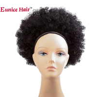 Eunice 10inch Afro Puff Synthetic Hair Chignon Short Curly Synthetic #1B/#4/T1B 27/T1B 30 Big Bun Chignon Hair Extension