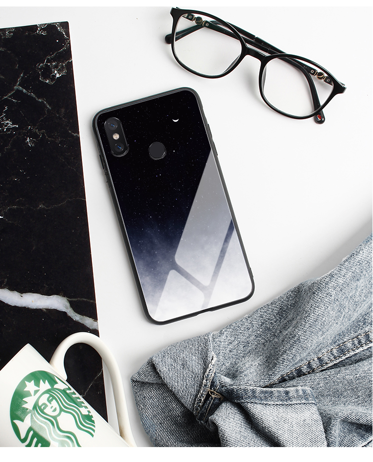 GFAITH For Xiaomi Mi 9T Case Tempered Glass Feather Print Cover With Starry Sky Design For Xiaomi Mi9T Pro Phone Case Mi 9 SE 87