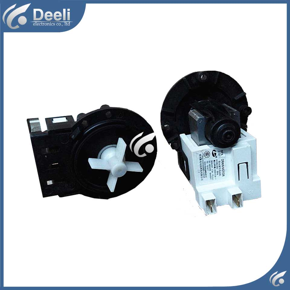 Original for drum washing machine drain pump motor BPX2-34 good working original new for lg drum washing machine door hinge 42741701 1pcs