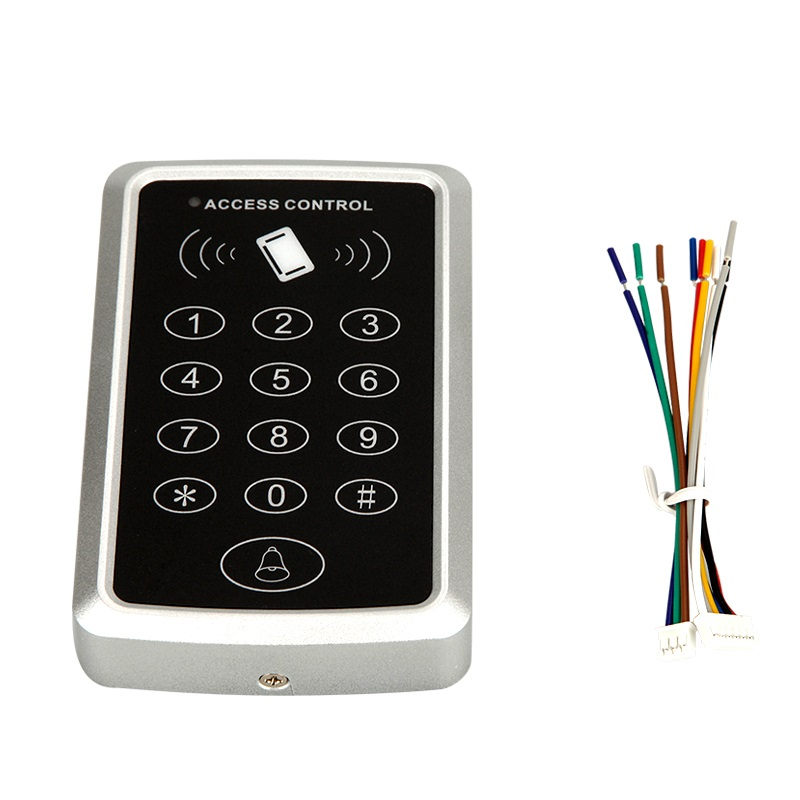 1000 users  Card / possword / card+password single door access control standalone keyboard door access control system metal rfid em card reader ip68 waterproof metal standalone door lock access control system with keypad 2000 card users capacity