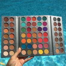 Brand 63 colors matte eyeshadow pallete professional glitter Pigmented tint eye shadow Powder make up palette oogschaduw Gift