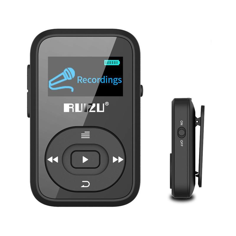 Mini RUIZU X26 Clip wireless Bluetooth MP3 player 8GB Sport mp3 music player Recorder FM Radio Support TF Card Free Armband free shipping tecsun icr 110 fm am tf card mp3 player recorder radio icr110 upgrade version of icr 100