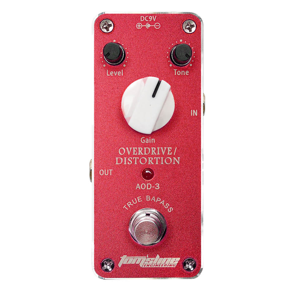 Tomsline AOD-3 Overdrive/Distortion guitar effect pedal Analogue Effect True Bypass AROMA aroma pure echo digital delay guitar effect mini analogue pedal ape 3 true bypass metal shell level knob durable accurate