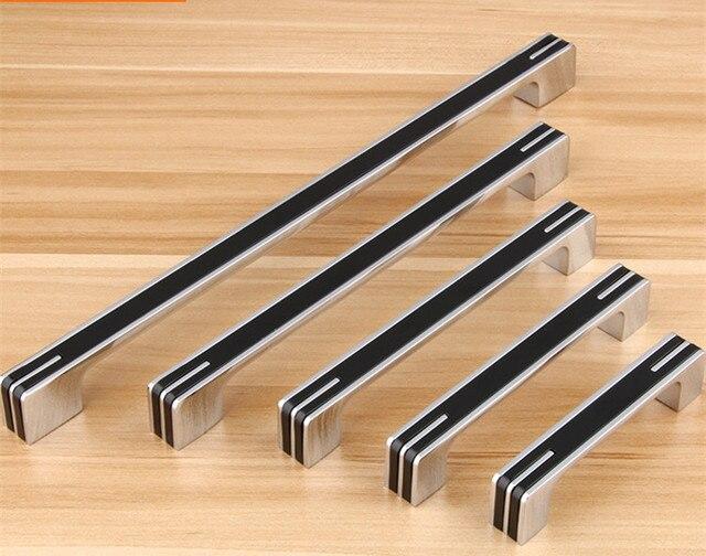 2 pcs classico del cassetto manopola tira nero armadio cucina armadio armadi da cucina mobili