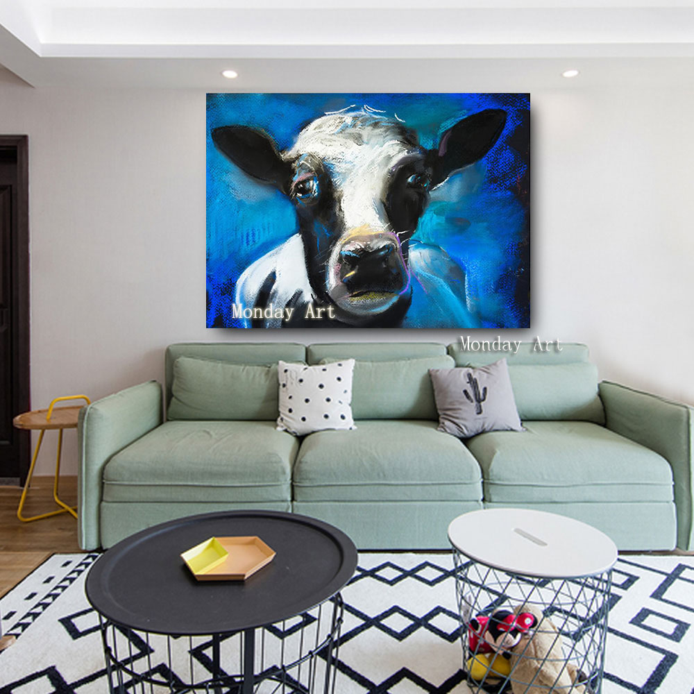 Embelish-1-Pieces-Lovely-Cow-Face-HD-Print-Canvas-Oil-Waterproof-Painting-For-Living-Room-Large (1)