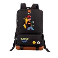 59ac75fee 2019 High Quality Pokemon Pocket Monster Backpack Gengar Charmander  Squirtle Pikachu Emoji Printing Canvas Backpack School