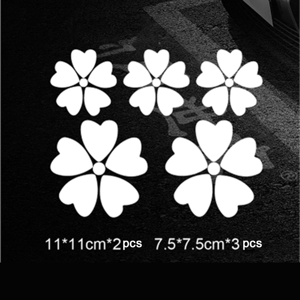 Image 3 - OCT 17 Romanti Cherry blossom Car Vinyl Whole Body Graphic Decal Sticker Styling 5 pcs/pack-in Car Stickers from Automobiles & Motorcycles