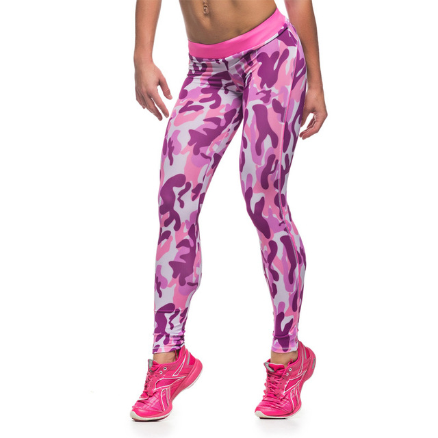 Summer Fitness Leggings Women Sporting Elastic Patchwork Camouflage Print Sexy Leggings Pants Fitness Clothing For Women