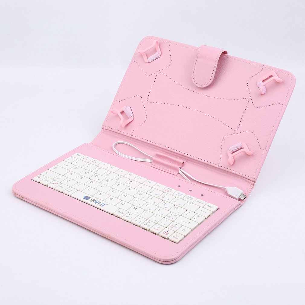 7 inch Keyboard case for tablet PU Leather USB interface Scratches Magnet flap closure Universal Keyboard And Case Tablets