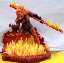 Action Figure LOL online Game Role Wukong the Monkey King Warrior Assassin 28cm PVC Fire Volcano toys Model Anime kids gift