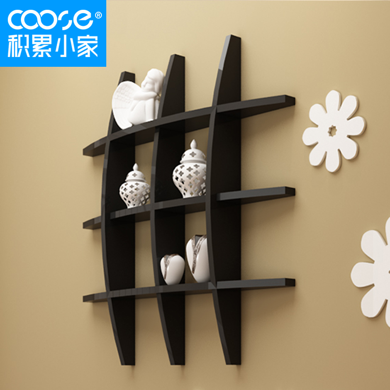 Accumulation of small home baking rack large living room wall shelving  wells partition