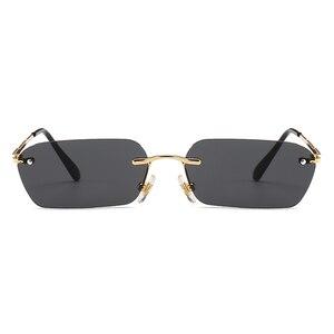 Kachawoo صغير مستطيل شمسية للرجال الأزياء والإكسسوارات السيدات نظارات شمسية بدون شفة المعادن للجنسين الهدايا