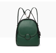 Korean version of womens backpack personality fashion student bag