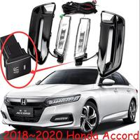 1set car headlight for Honda Accord daytime Light spirior car accessories 2018 2019 2020y LED DRL headlamp for Accord fog light