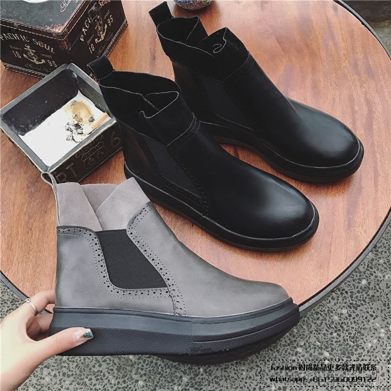 Designer Women Boots Spring Female High Quality Full Grain Leather Mid-Calf Handmade Elegant Fashion Brand Round Toe big size high quality iron wire frame sun glasses women retro vintage 51mm round sn2180 men women brand designer lunettes oculos de sol