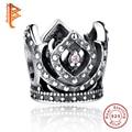 925 Sterling Silver European Charms Beads Fit Original Pandora Bracelet Purple Crown Women Beads Jewelry Making Berloque