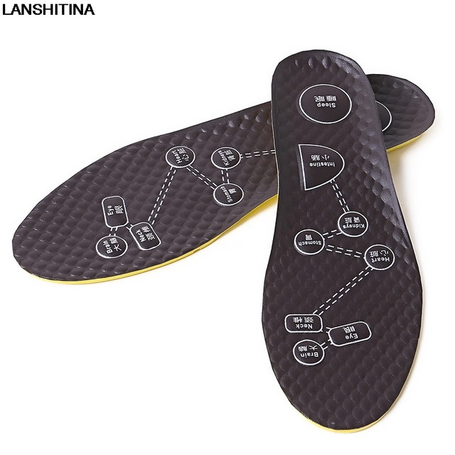 New Multi-functional Foot Acupressure Acupuncture Massage Insole Odor Deodorant Sweat Absorption Insoles Health Care Shoe Pad