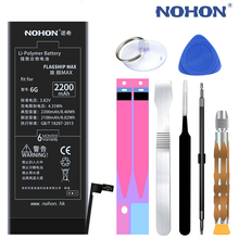 NOHON Rechargeable Battery for iPhone 6 Accumulator Li-Polymer Battery for Phone 2200mAh Max Capacity with Repair Tools Kit.