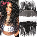 13x4 Deep Curly Lace Frontal Closure Unprocessed Mink Curly Human Hair Ear to Ear Top Frontal GEM Beauty Curly Frontal Black 1B