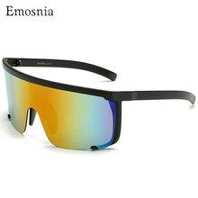 Newest Semi-Rimless Sunglasses European Women Fashion Brand Designer Black Flat