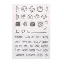 Transparent Clear Stamp DIY Silicone Seals for Scrapbooking Photo Album Decorative Stamping Decoration Supplies